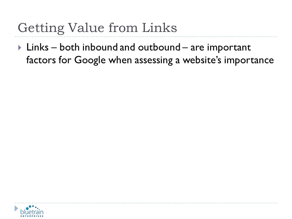 Getting Value from Links