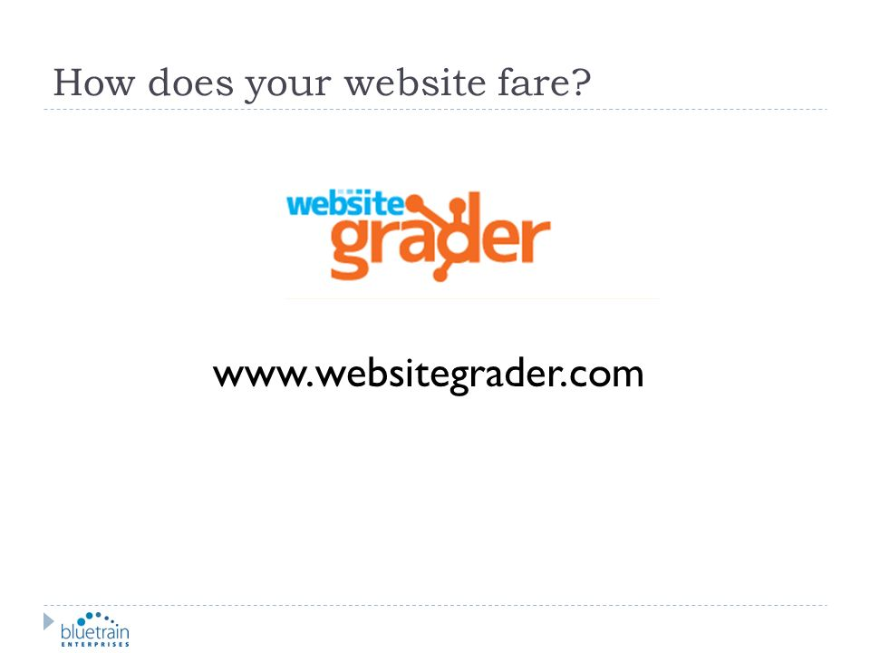 How does your website fare
