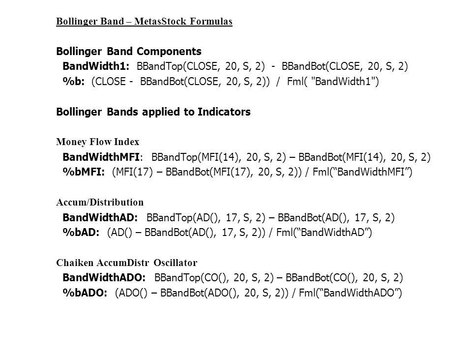 Bollinger bands formula