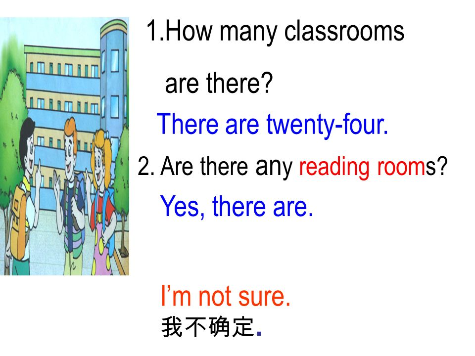 1.How many classrooms are there There are twenty-four.