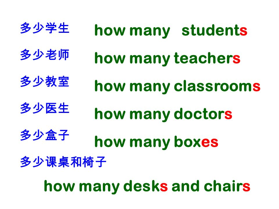 how many desks and chairs