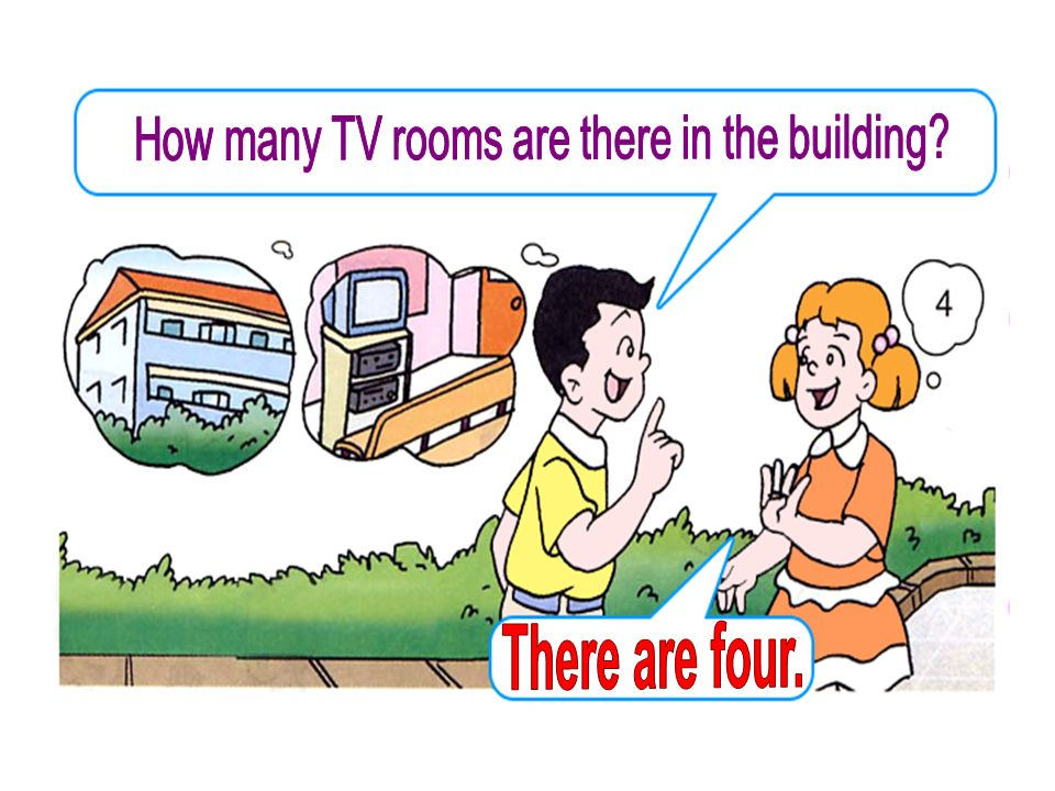How many TV rooms are there in the building