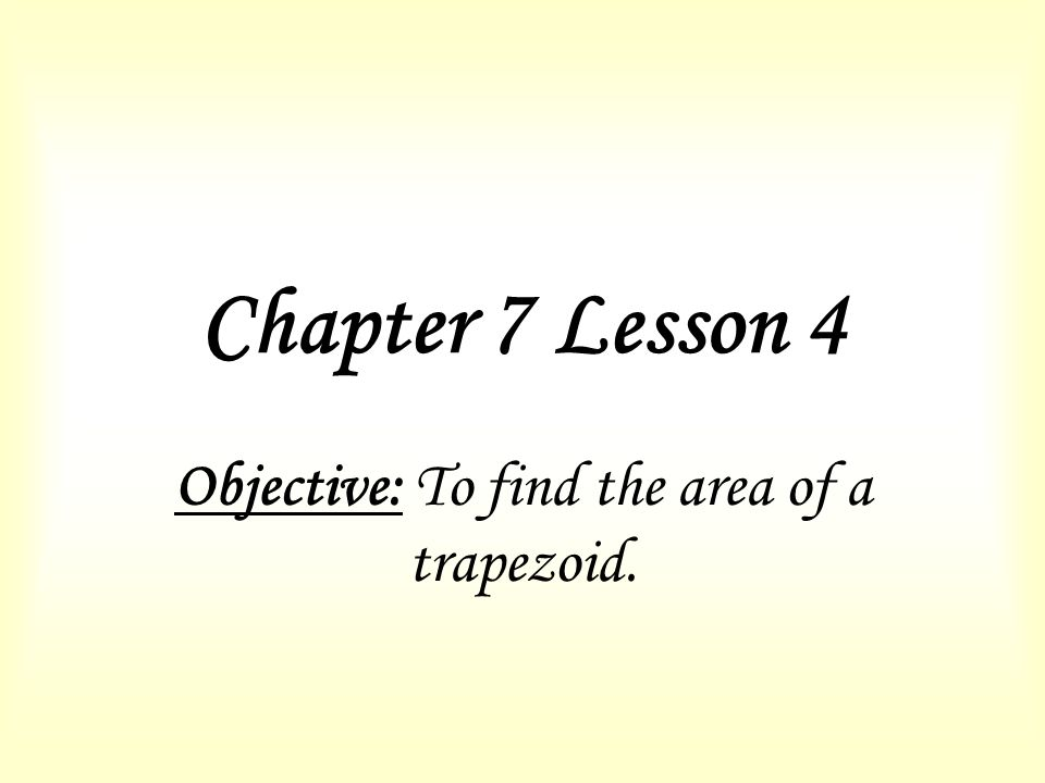 how to find the missing height of a trapezoid