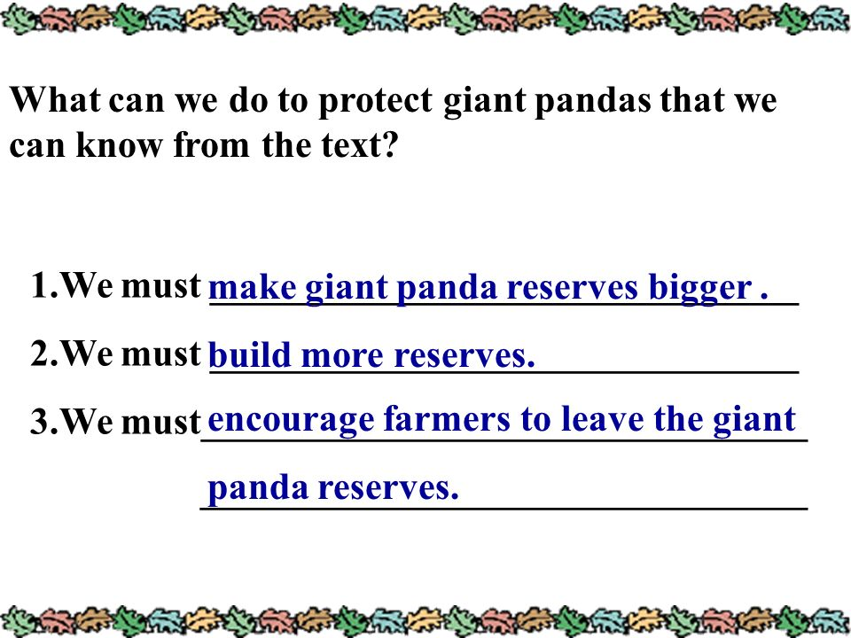 What can we do to protect giant pandas that we can know from the text