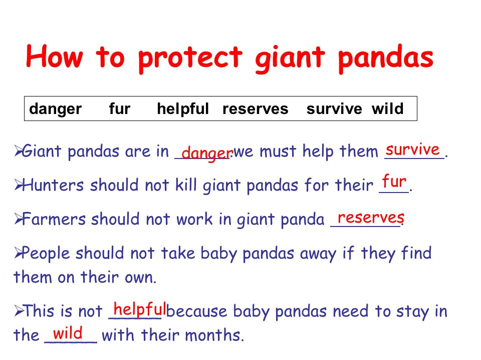 How to protect giant pandas