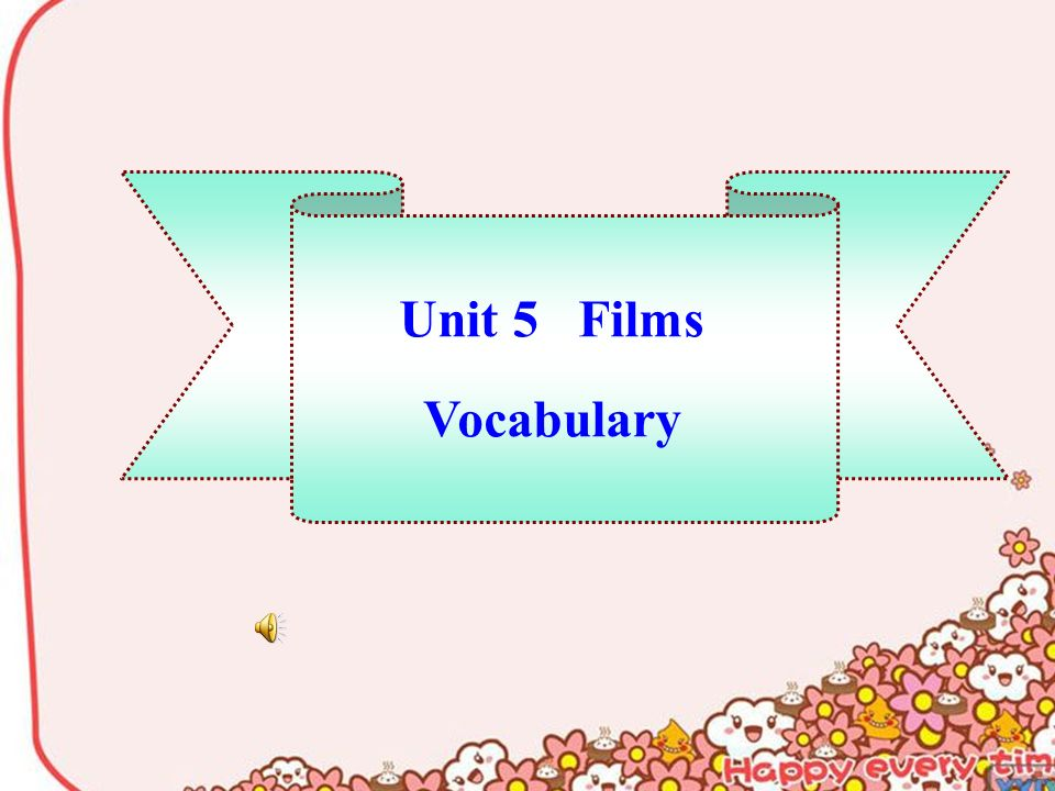 Unit 5 Films Vocabulary