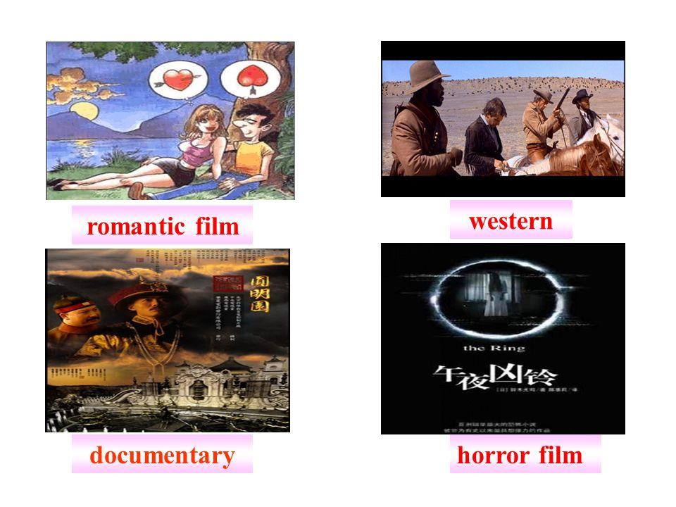 western romantic film documentary horror film
