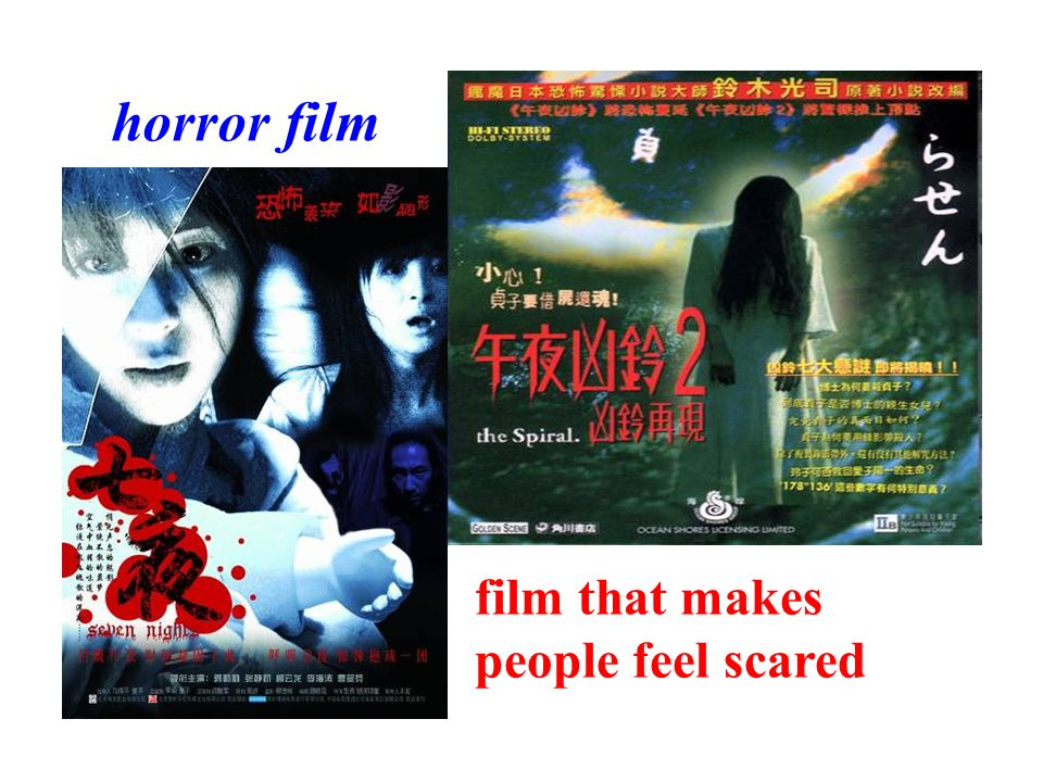 horror film film that makes people feel scared