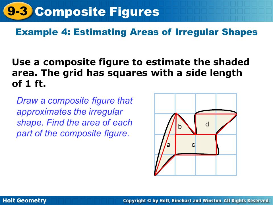 Example 4: Estimating Areas of Irregular Shapes