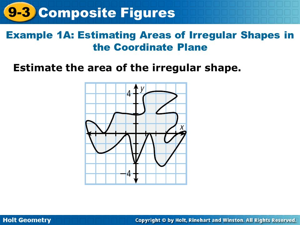 Example 1A: Estimating Areas of Irregular Shapes in the Coordinate Plane