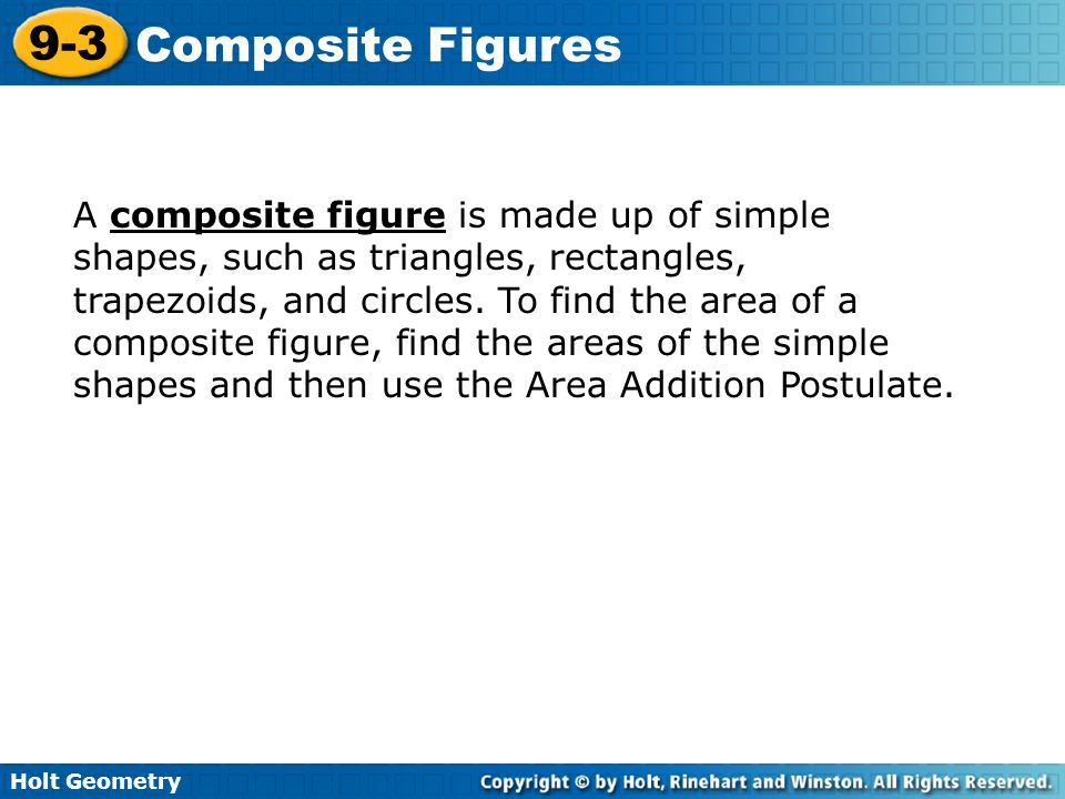 A composite figure is made up of simple