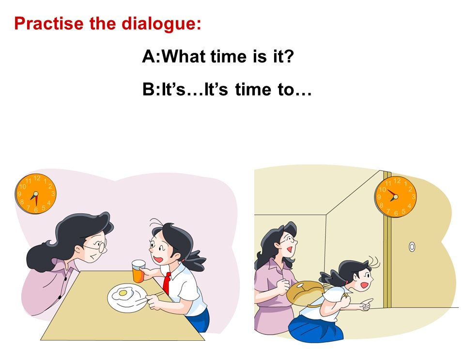 Practise the dialogue: