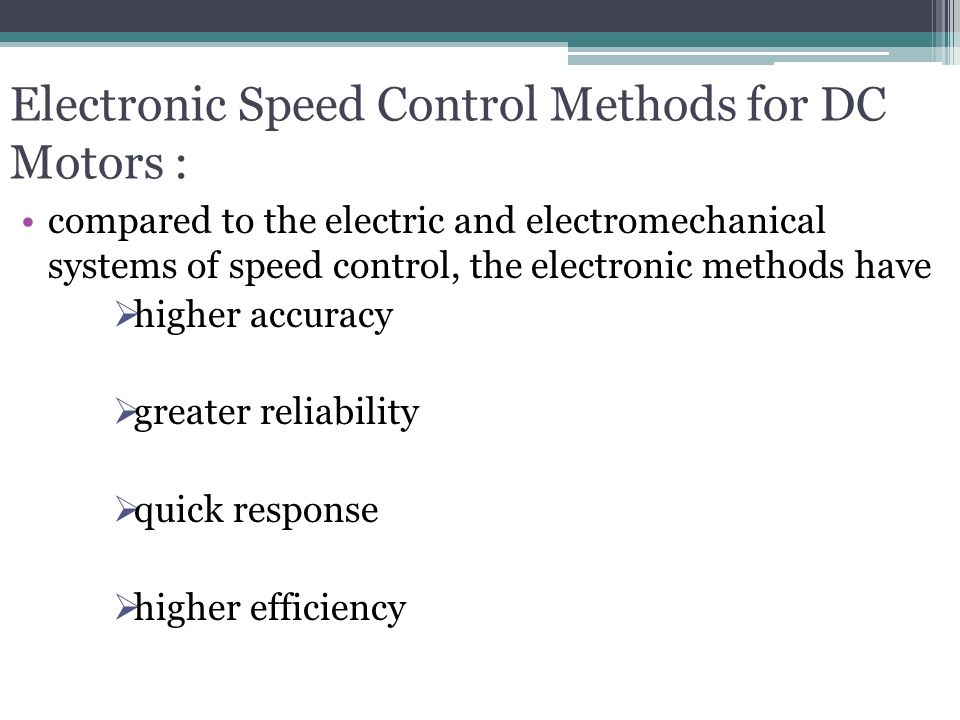 Traction motor control and applications ppt video for Ac motor speed control methods