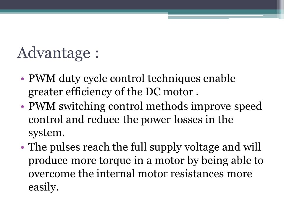 Traction motor control and applications ppt video for Motor speed control methods