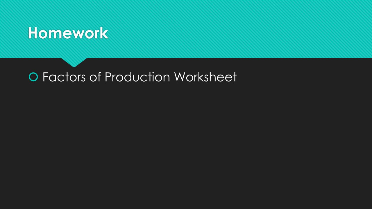 worksheet Factors Of Production Worksheet welcome to economics turn your homework into the box ppt download 25 factors of production worksheet