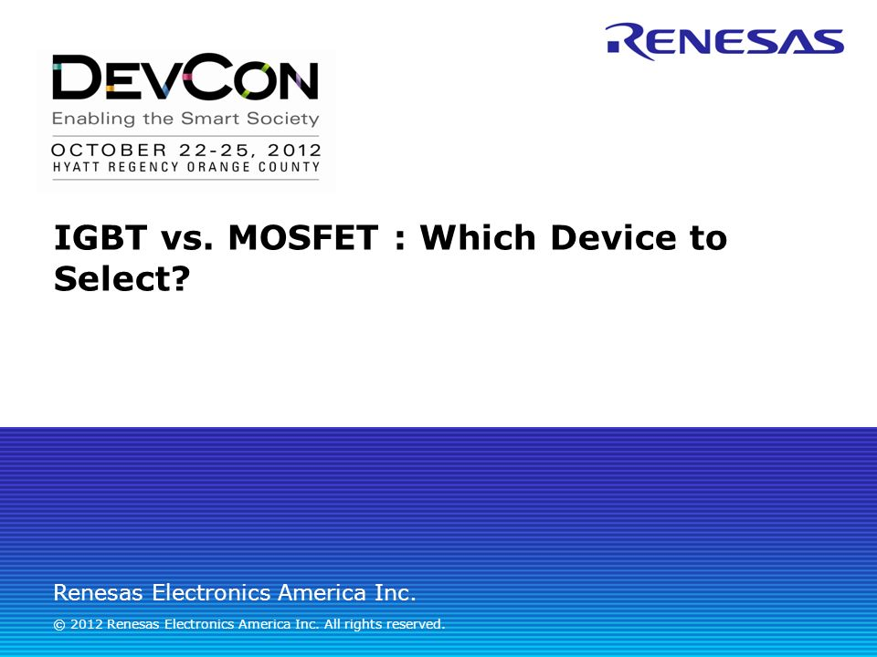 IGBT vs  MOSFET : Which Device to Select?