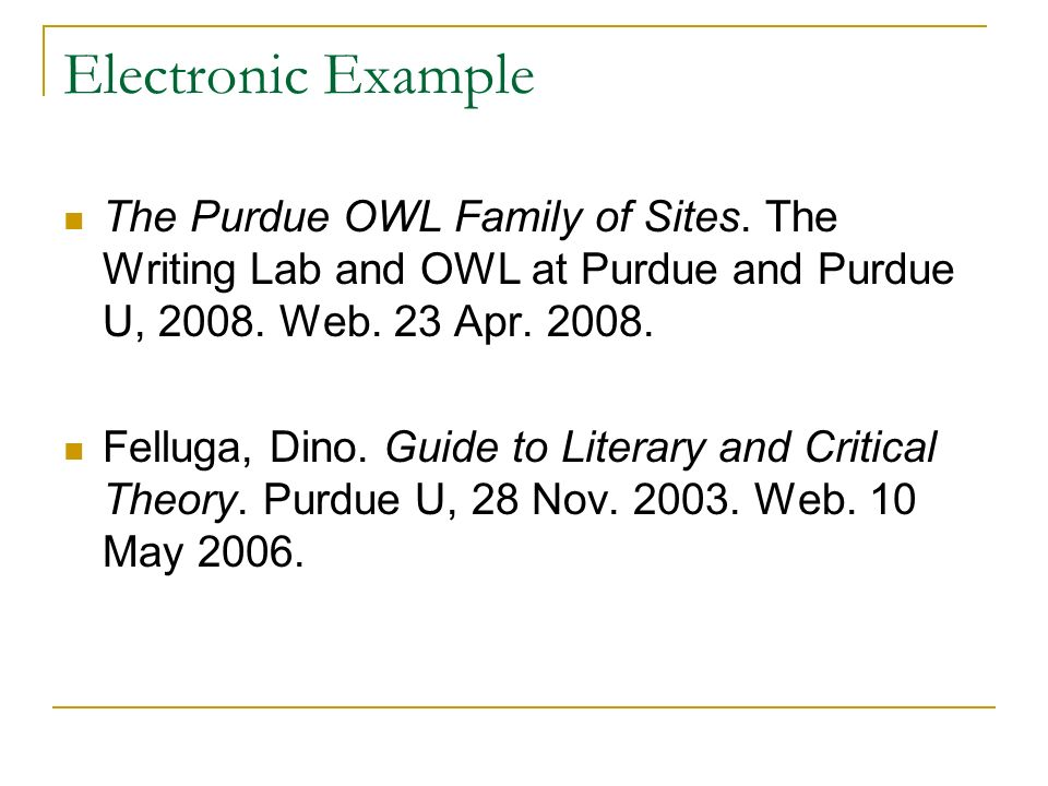Owl essay writing