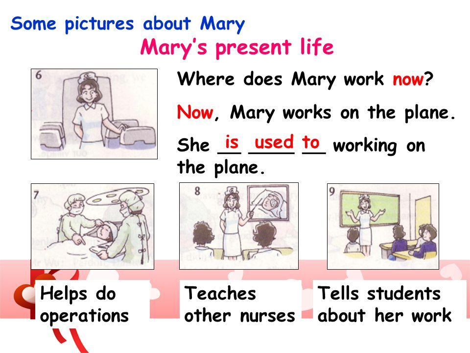 Mary's present life Some pictures about Mary Where does Mary work now