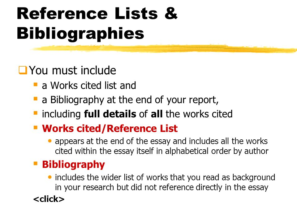 referencing bibliographies ppt  reference lists bibliographies