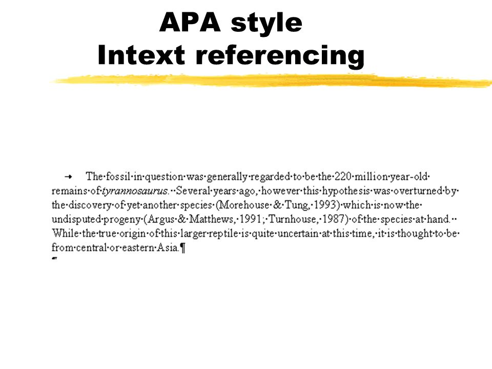 apa style referncing