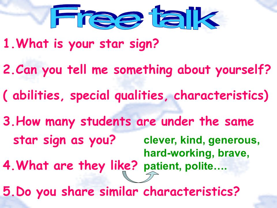 Free talk What is your star sign