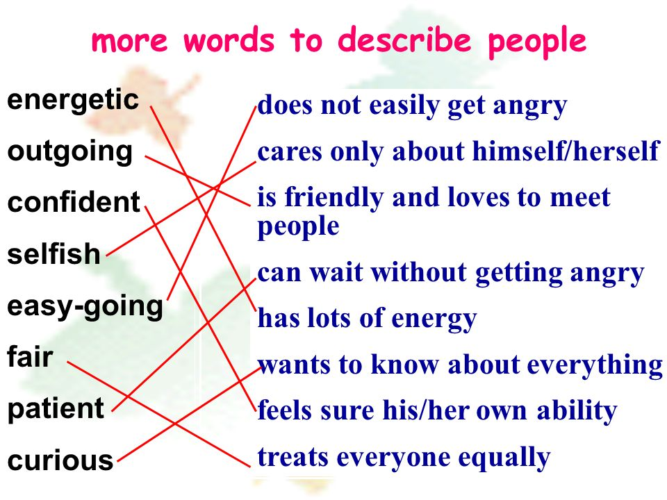 more words to describe people