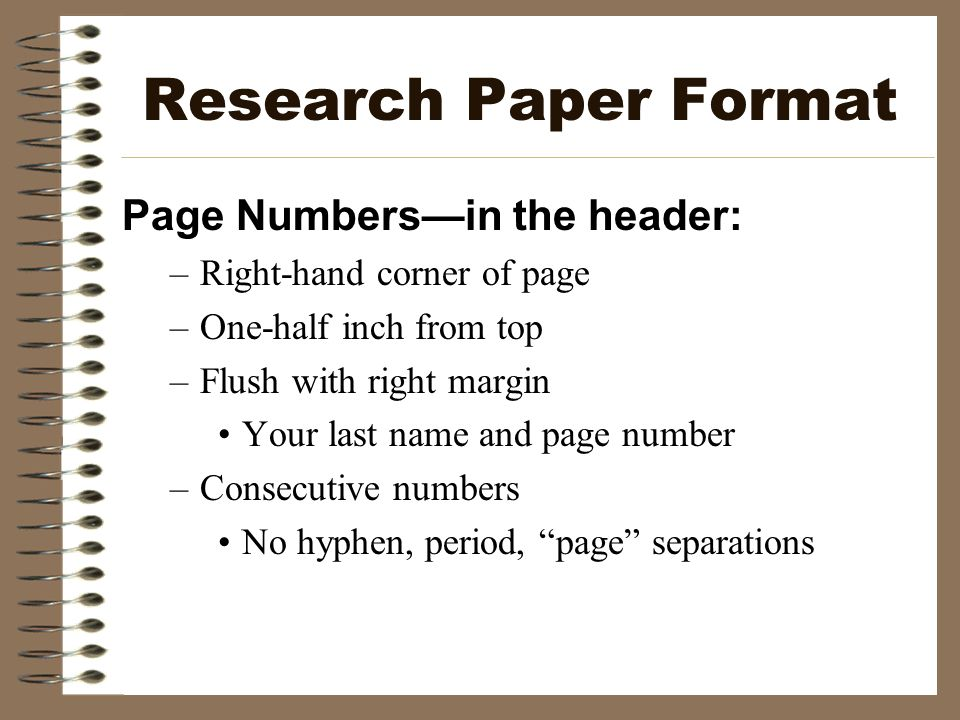 research paper margin