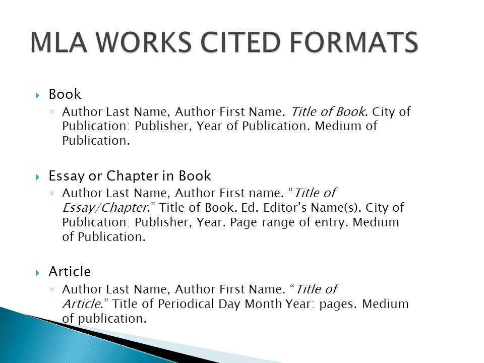 mla format works cited internet Mla format works cited templates/formulas: here are the basic mla format templates if you would like to create the works cited list yourself (instead of using the.