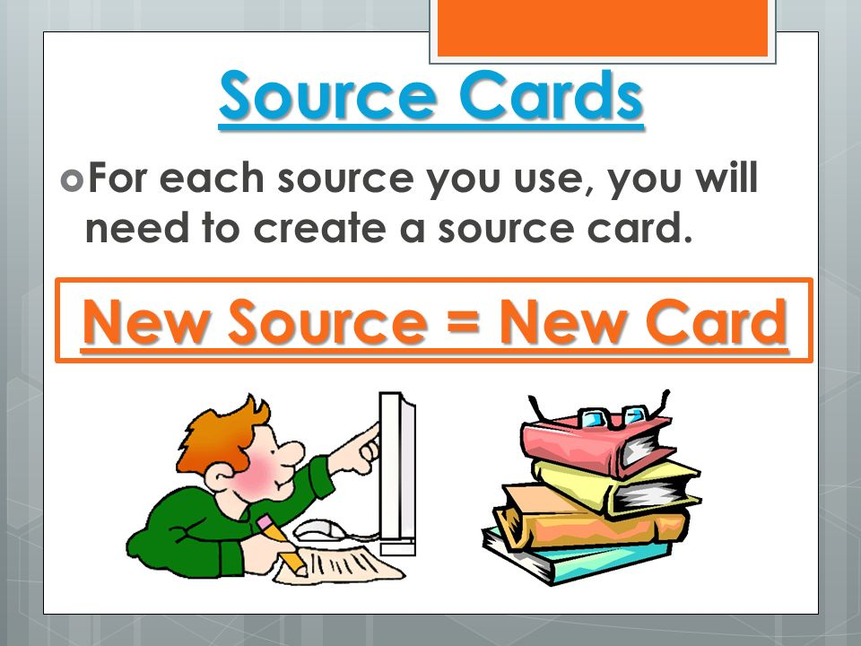 Source Cards New Source = New Card