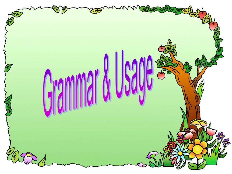 Grammar & Usage