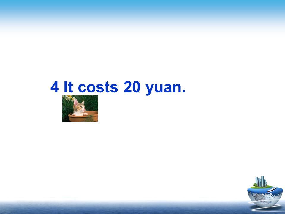 4 It costs 20 yuan.