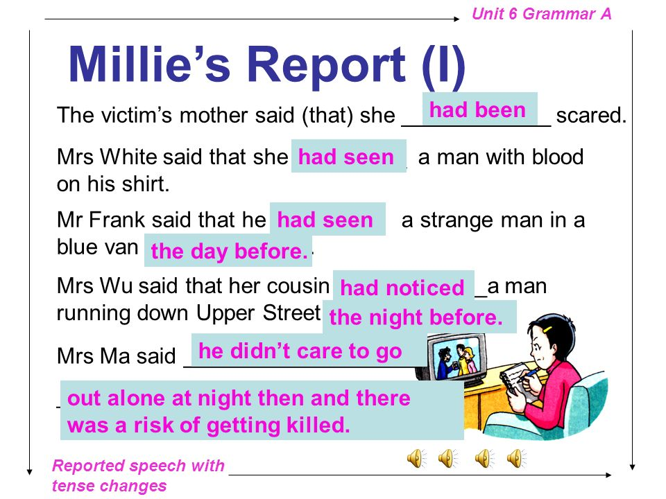 Millie's Report (I) had been