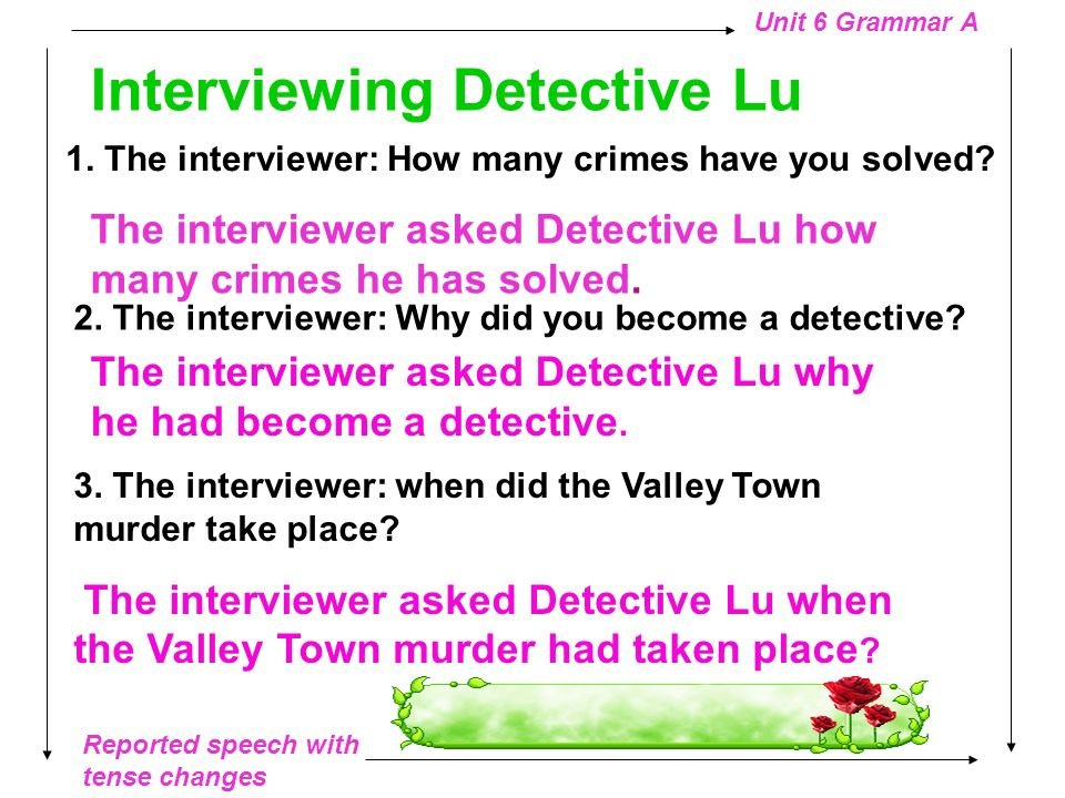 Interviewing Detective Lu