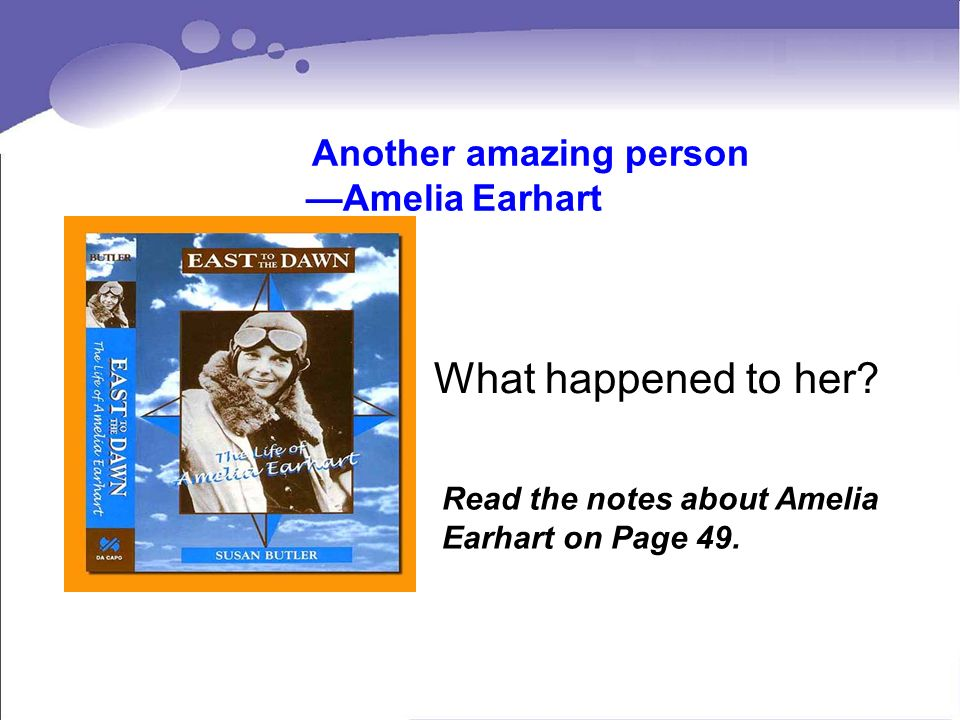 What happened to her —Amelia Earhart