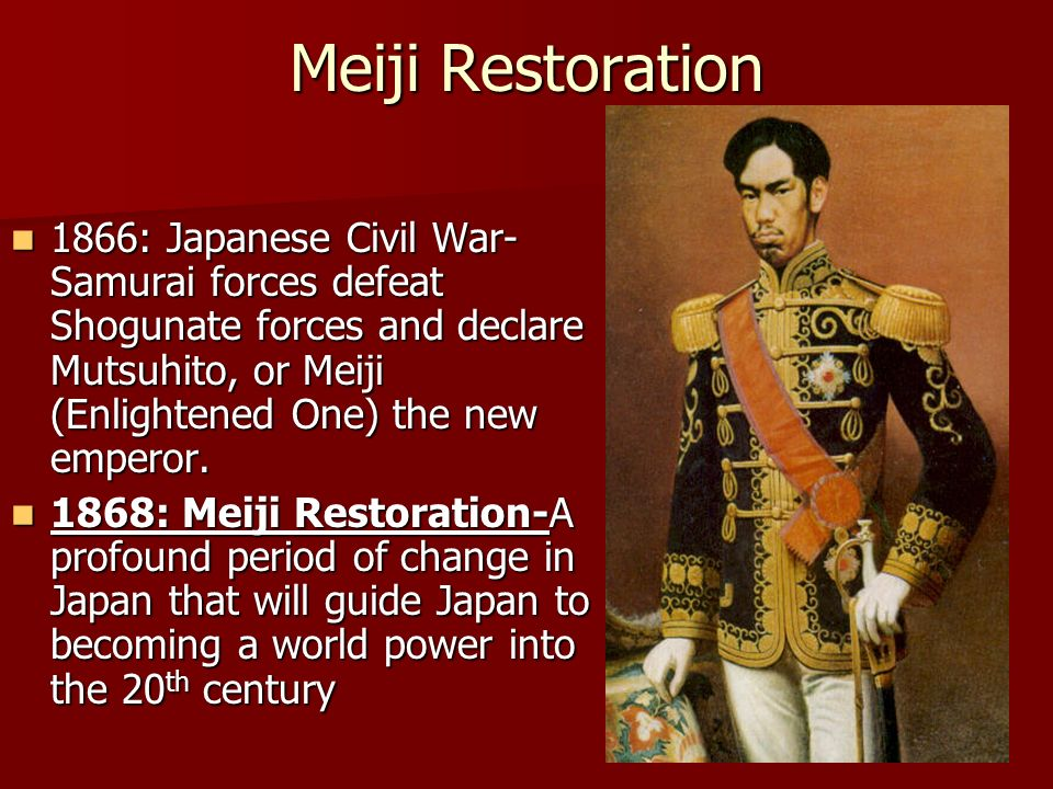 an analysis of japanese military social political and economic reforms in the meiji restoration The emperor meiji in western military itō was instrumental in establishing the political institutions of the meiji restoration social, and economic reforms.