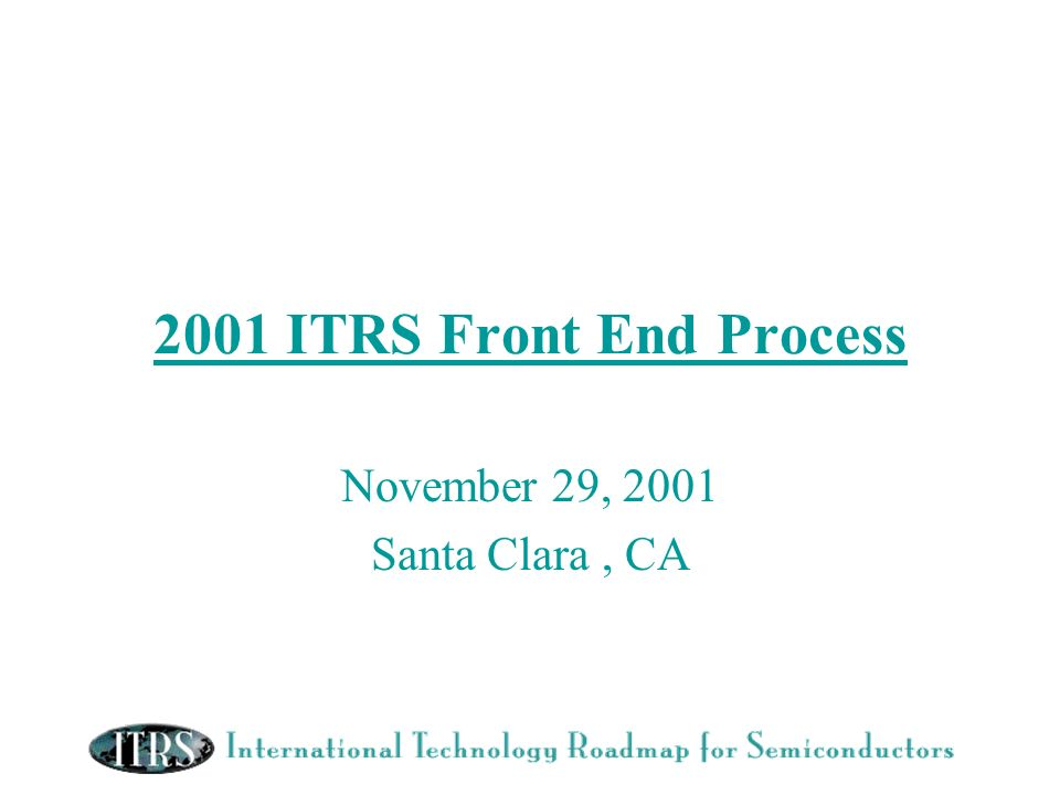 November 29, 2001 Santa Clara , CA