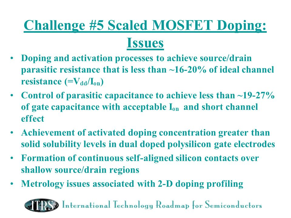 Challenge #5 Scaled MOSFET Doping: Issues