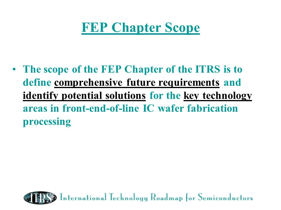 FEP Chapter Scope