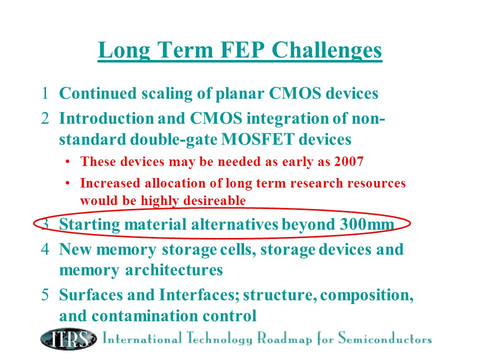 Long Term FEP Challenges