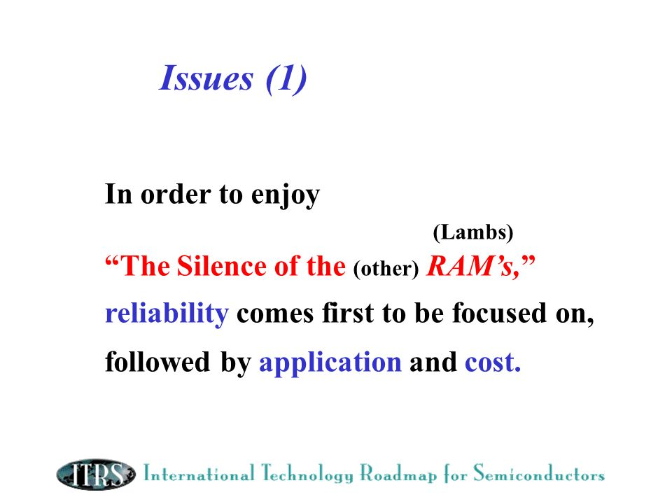 Issues (1) In order to enjoy (Lambs)