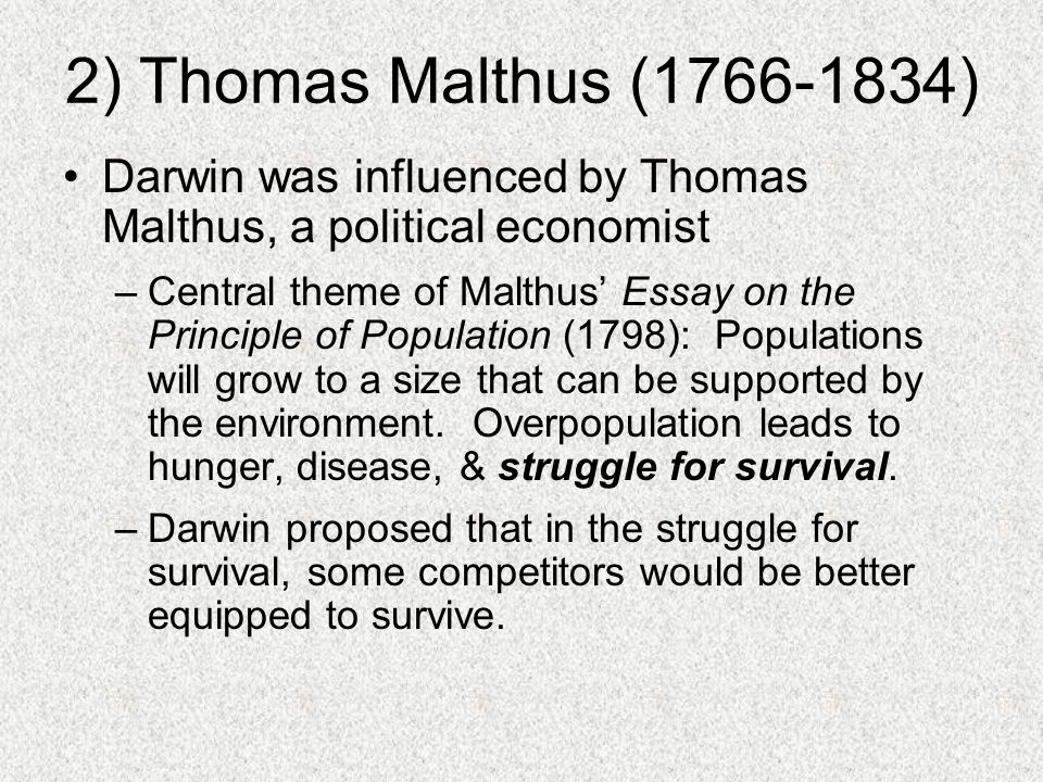 thomas robert malthus essay on the principle of population by thomas