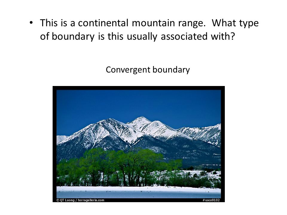 This is a continental mountain range
