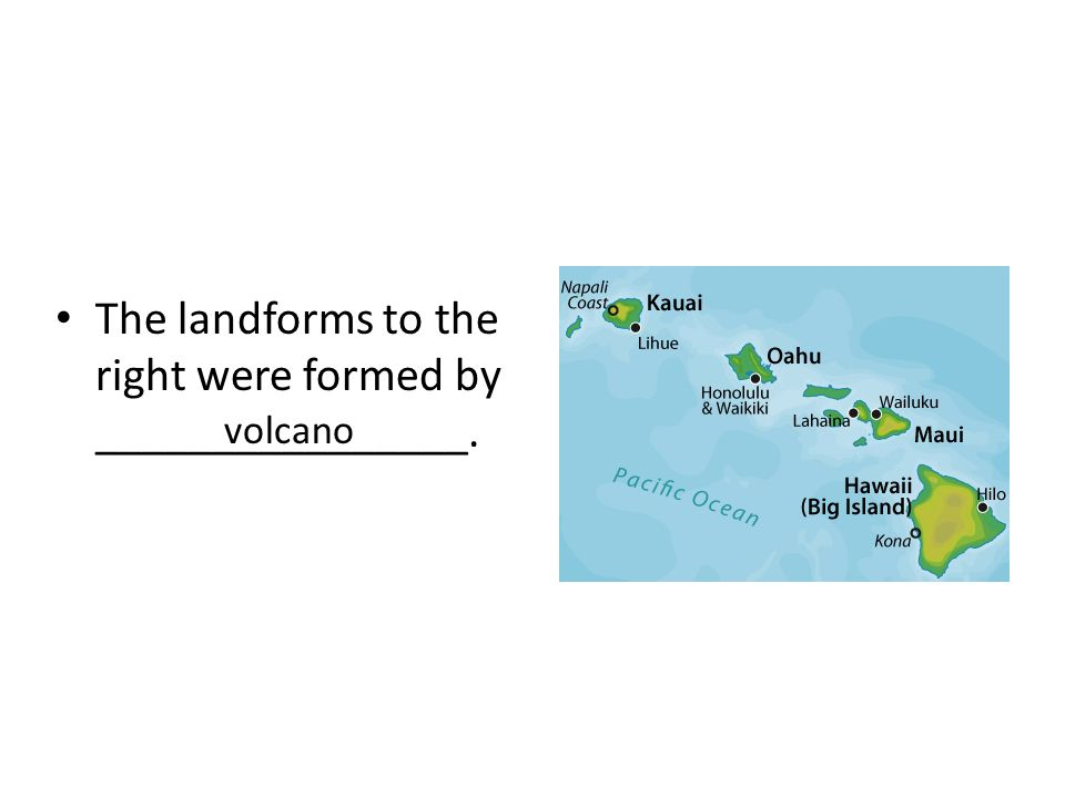 The landforms to the right were formed by ________________.
