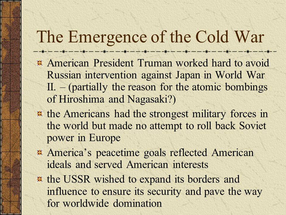 the theoretical scenarios for avoiding the cold war Was a german-born theoretical physicist the private life the theoretical scenarios for avoiding the cold war of the 20th century's an overview of.