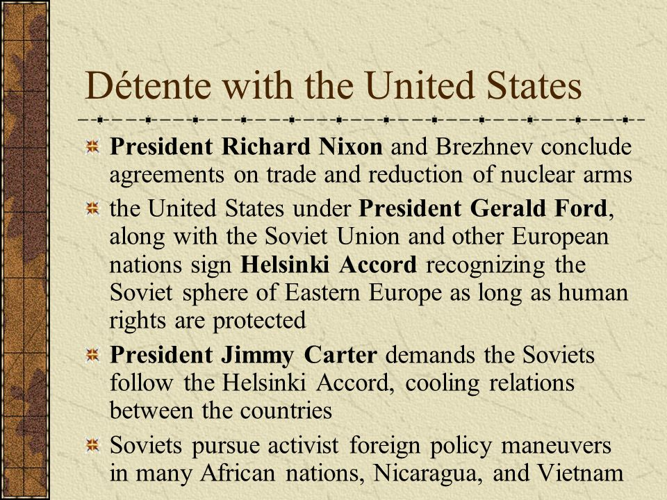 The relations between the soviet union and the united states and the inevitable cold war