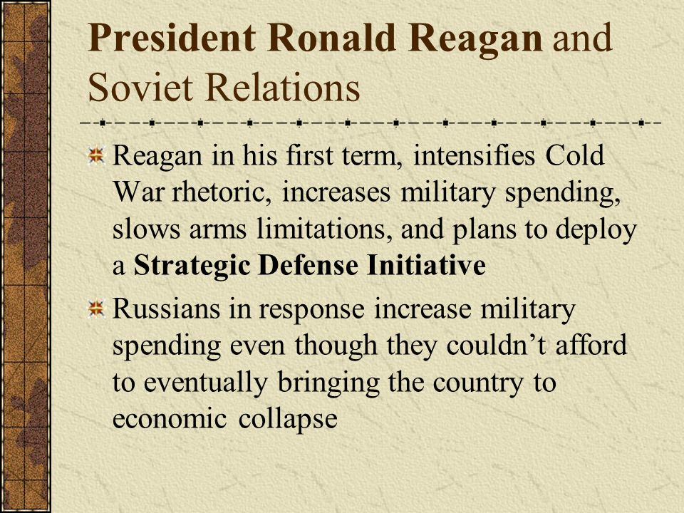 a history of president reagans strategic defense initiative with the soviet union How two sci-fi writers fueled a us president's wild quest to weaponize space talking the soviet union the strategic defense initiative.