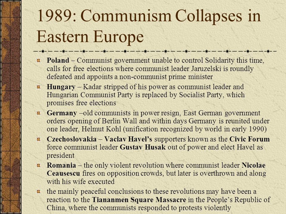 methods of maintaining communism in eastern europe The collapse of eastern europe  and had asked her for information on polish workers attitudes and methods of  'while maintaining political and.