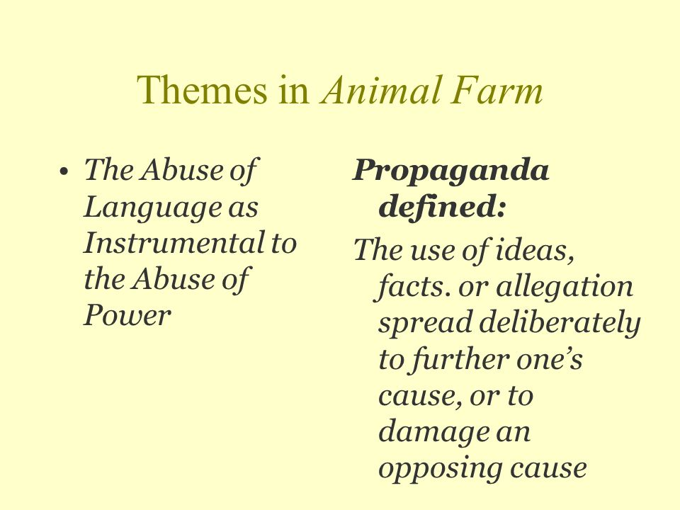 the power of one animal farm Our reading guide for animal farm  discussion questions  animal farm is replete with subtle and not so-subtle lessons on blind conformity and the misuse of power.