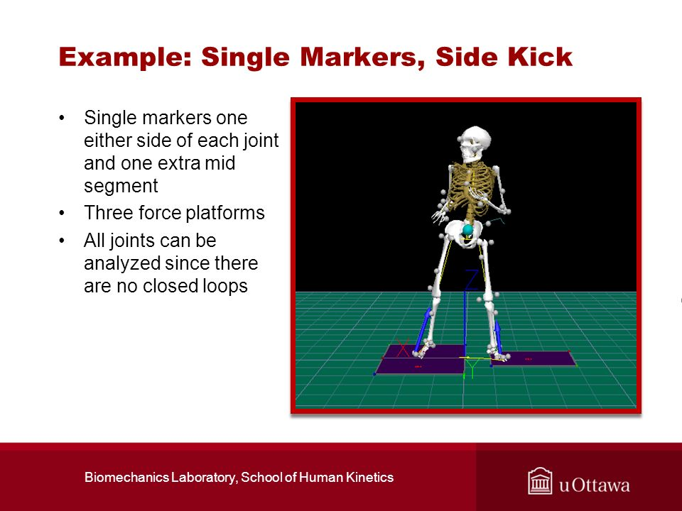 Example: Single Markers, Side Kick