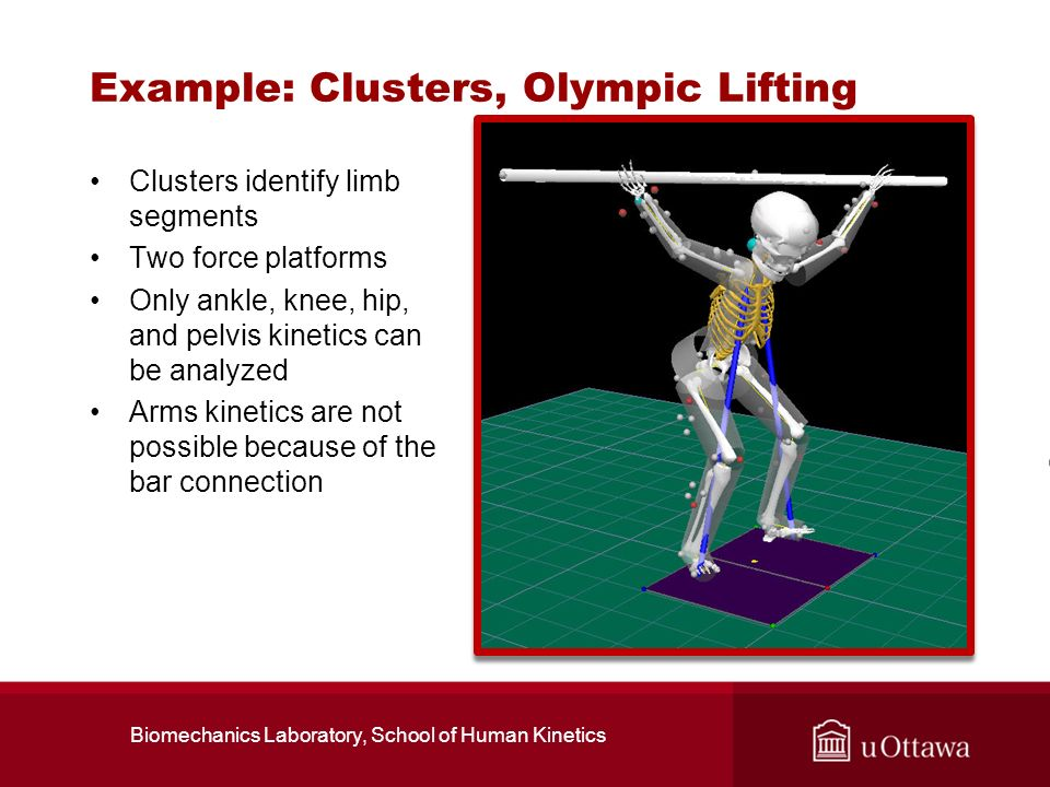 Example: Clusters, Olympic Lifting